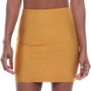 Wow Couture Dark Gold Bandage Mini Skirt